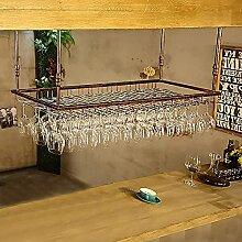 SMTAO Flaschenwein/Weinglashalter Regal Eisenregal