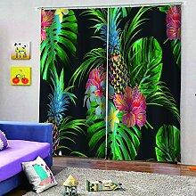 SMXFFF 3D Wärmedämmende Vorhänge Ananas