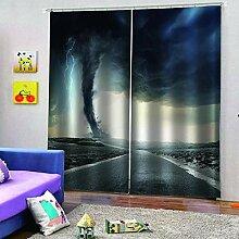 SMXFFF 3D Wärmedämmende Vorhänge Blitz-Tornado