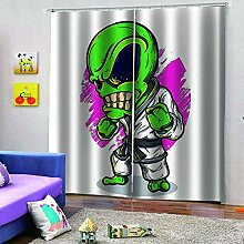 SMXFFF Blackout 3D Curtain Außerirdischer