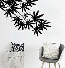smydp Baum Blatt Ahorn Hanf Blätter Vinyl Pflanze