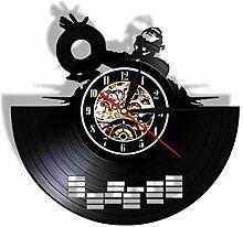 smyzll LED DJ Mixer Schallplatte Wanduhr