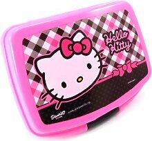 Snack-box 'Hello Kitty' schwarz rosa.