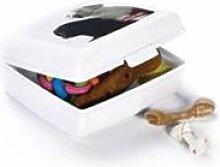 Snack-Box L weiß Motiv Katzen