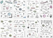 Snaplay I 201 Gästebuch Hochzeit Sticker I