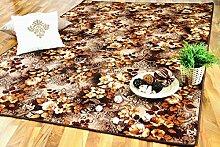 Snapstyle Designerteppich Braun Beige Blumen in 24 Größen