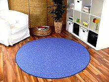 Snapstyle Feinschlingen Velour Teppich Strong Blau
