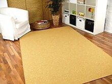 Snapstyle Feinschlingen Velour Teppich Strong Sand
