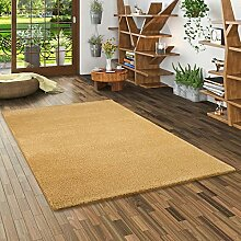 Snapstyle Hochflor Shaggy Teppich Palace Curry in
