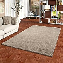 Snapstyle Hochflor Shaggy Teppich Palace Taupe in