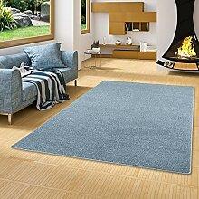 Snapstyle Hochflor Velours Teppich Luna Mix Blau