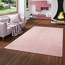 Snapstyle Hochflor Velours Teppich Luna Rosa in 24