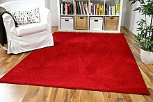 Snapstyle Hochflor Velours Teppich Luna Rot in 24