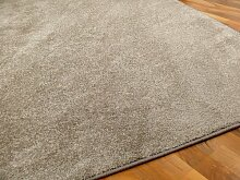 Snapstyle Hochflor Velours Teppich Luna Taupe in