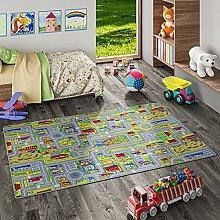 Snapstyle Kinder Spiel Teppich Abenteuerland Bunt
