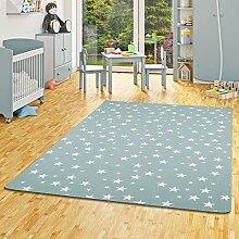 Snapstyle Kinder Spiel Teppich Sterne Mintgrün in
