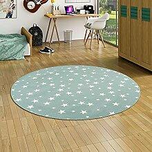 Snapstyle Kinder Spiel Teppich Sterne Mintgrün