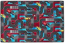 Snapstyle Kinder Spielteppich Velours Disney Cars Rot Türkis in 24 Größen
