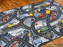 Snapstyle Kinderteppich Spielteppich Straßenteppich Disney Cars Grau in 24 Größen