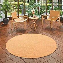 Snapstyle Sisal Natur Teppich Astra Orange Rund in