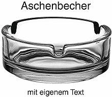 SNEG Aschenbecher aus Glas mit lustigen Sprüchen