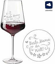 SNEG Beste Mama Rotweinglas Modern - Weinglas mit