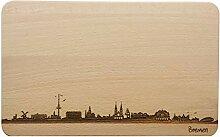SNEG Brotzeitbrett Bremen Skyline |