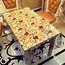 SNHWARE Die Tischdecke Ist Einfach Und Stilvolle Wasserdichte Transparent Durable,137*100CM