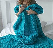 SNHWARE Raue Wolle Hand Gewebte Decken Vier