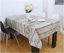 SNHWARE Tischdecke Mit Anti-Rutsch-Umweltschutz Durable Und Holzmaserung Simulation Bark Pattern,140*140cm