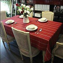 SNHWARE Tischdecke Mit Dicker Baumwolle Knitterfrei Umweltschutz Und Durable,Red-65*65cm