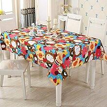 SNHWARE Tischdecke Mit Einfacher Art-Leinwand-Wrinkle Free Dick Und Umweltschutz Helle Farbe,C-55*55cm