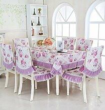 SNHWARE Tischdecke Mit Knitterfrei Thick Umweltschutz Und Heller Farbe,Purple-110*160CM