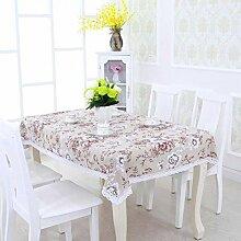 SNHWARE Tischdecke Mit Leinen Knitterfrei Dick Und Umweltschutz Durable,Pink-130*130CM
