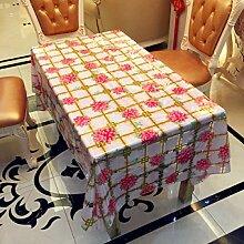 SNHWARE Tischdecke Mit Schutz Von Desktop-Praktischer Und Wasserdicht Helle Farbe,137*100CM
