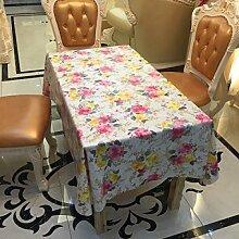 SNHWARE Tischdecke Mit Wasserdicht Hohe Qualität Und Umweltschutz Helle Farbe,137*100CM