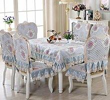 SNHWARE Tischdecke Mit Wasserdichte Knitterfrei Und Rutschfest Umweltschutz Helle Farbe,Blue