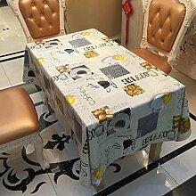 SNHWARE Tischdecke Mit Wasserdichte Knitterfrei Und Umweltschutz Helle Farbe,137*180CM