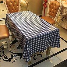 SNHWARE Tischdecke Mit Wasserdichtem Modernem Einfachem Gitter-Muster Und Durable Nicht Schrumpfen,137*100CM