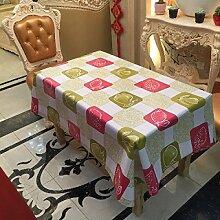 SNHWARE Tischdecke Mit Wasserdichter Knitterfrei Und Umweltschutz Durable,137*137CM