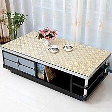 SNHWARE Tischdecke Mit Wasserdichtes Knitterfrei Durable Nicht Fade Und Unempfindlich Gegen Schmutz,D-90*135cm