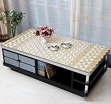 SNHWARE Tischdecke Mit Wasserdichtes Knitterfrei Durable Nicht Fade Und Unempfindlich Gegen Schmutz,B-135*135cm