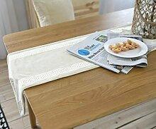 SNHWARE Tischfahne Mit Modernem Einfacher Mode American Village Tischdecke Und Umweltschutz,30*180CM