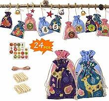 SNIIA DIY Weihnachten Adventskalender Taschen