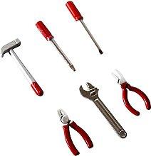 Snner 6 stücke Miniatur Puppenhaus Werkzeuge