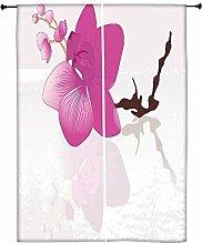 Snoogg Abstrakt Hintergrund mit Blüten Polyester Drapes Verdunklungsvorhänge 76,2cm W x 152,4cm L (Set von 2)