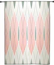 Snoogg Abstraktes Design Polyester Drapes Verdunklungsvorhänge 76,2cm W x 152,4cm L (Set von 2)
