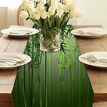 Snoogg Bambus Modern Digital Muster Tischläufer