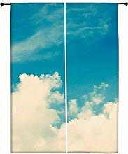 Snoogg bewölkten Tagen Polyester Drapes Verdunklungsvorhänge 76,2cm W x 152,4cm L (Set von 2)