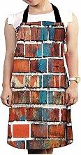 Snoogg Brick Tapete Design Küche Köche Schürze für Damen und Herren